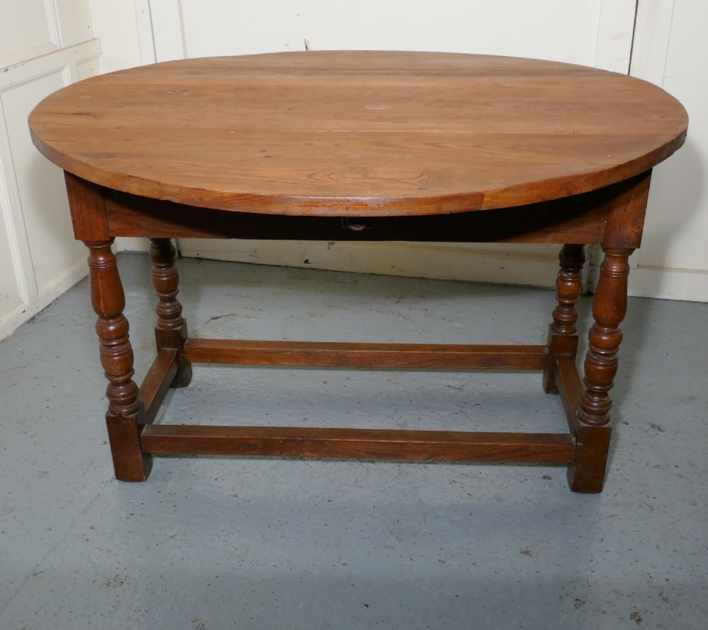 french country elm drop leaf table kitchen dining table