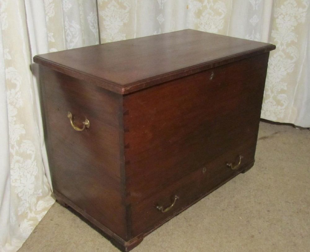 victorian country elm mule chest