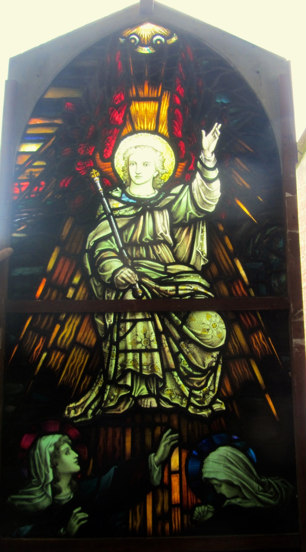 painted and stained glass window leaded glass church window