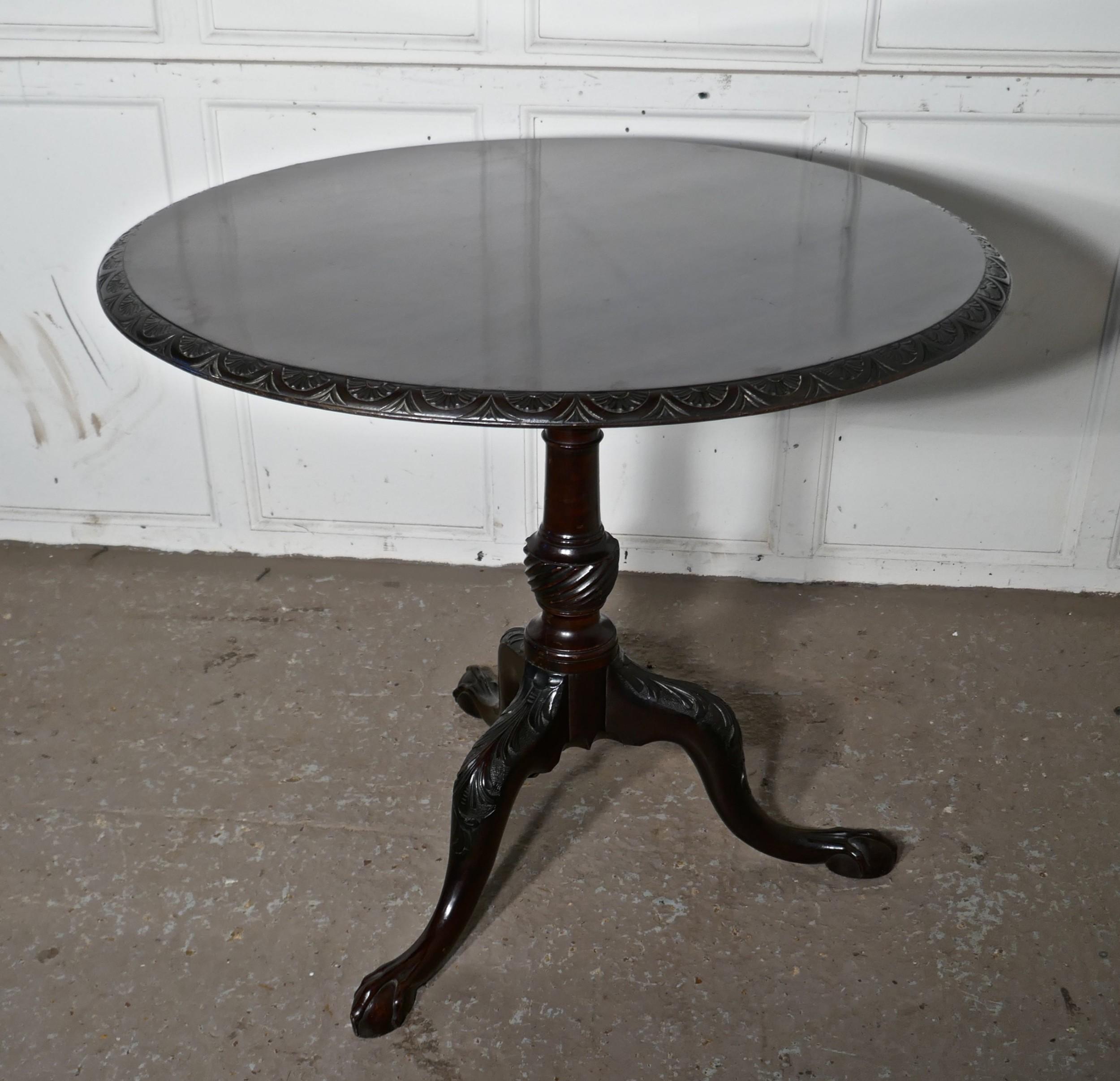 large georgian mahogany tilt top table bird cage wine table