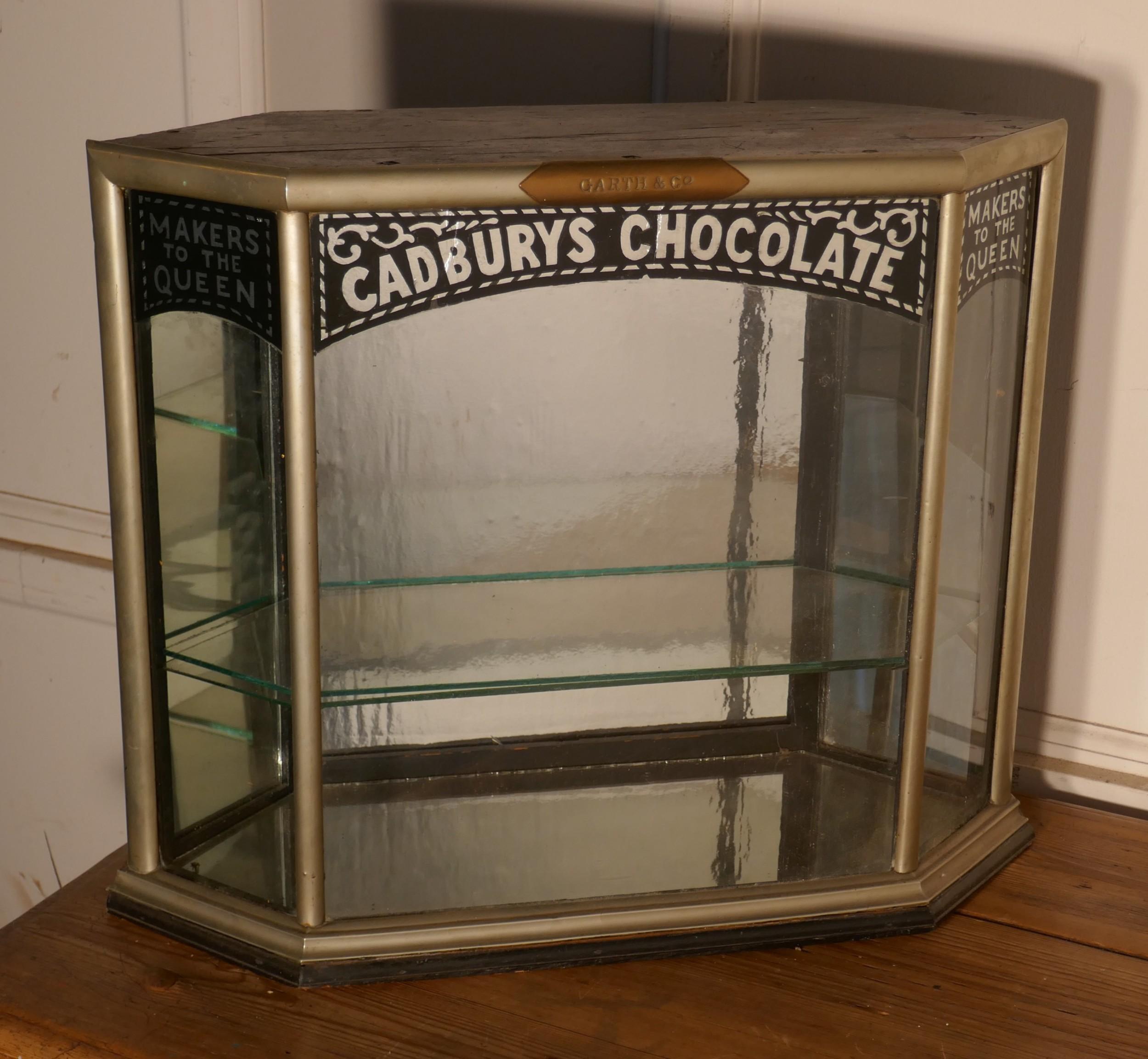 art deco cadburys sweet shop display cabinet