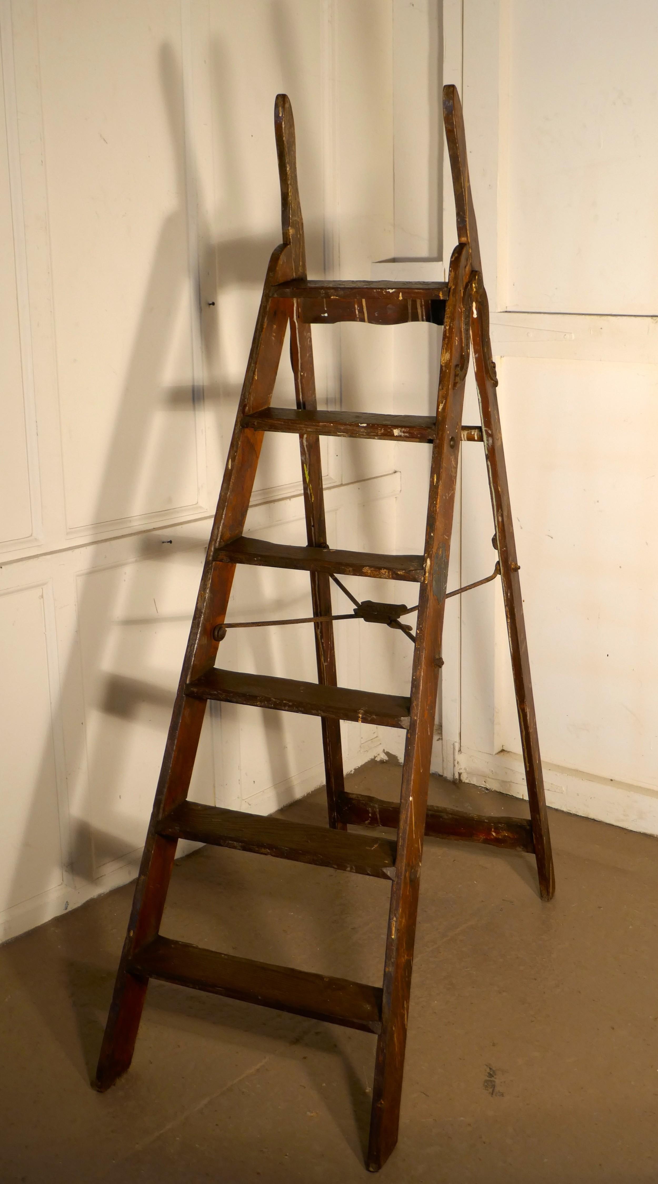 paint splattered simplex safety step ladder