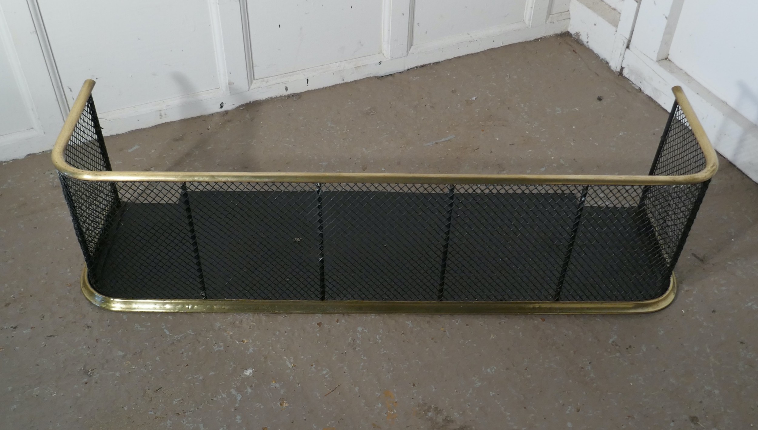 large victorian nursery fire guard or fender