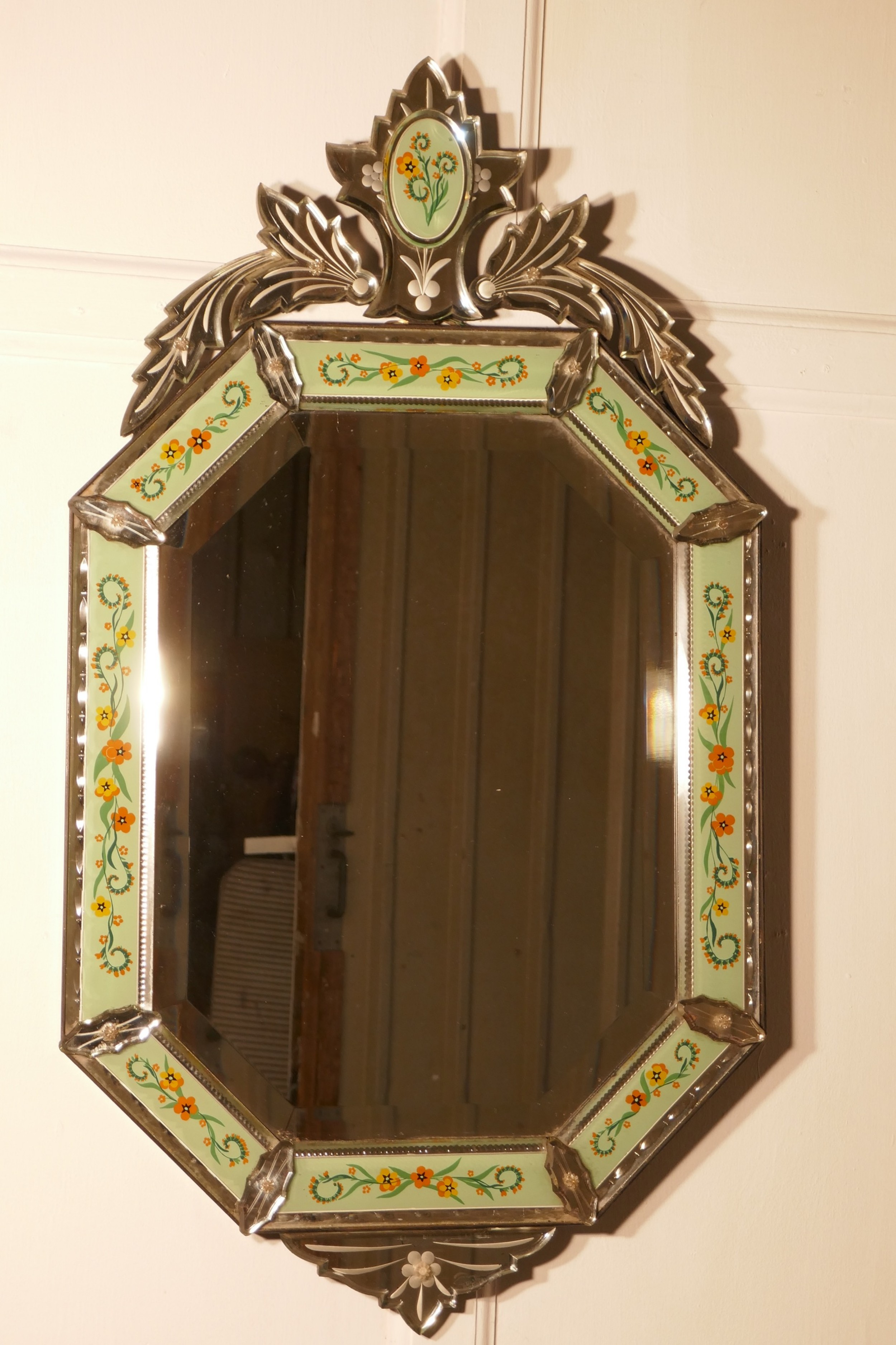 superb large arts and crafts venetian mirror