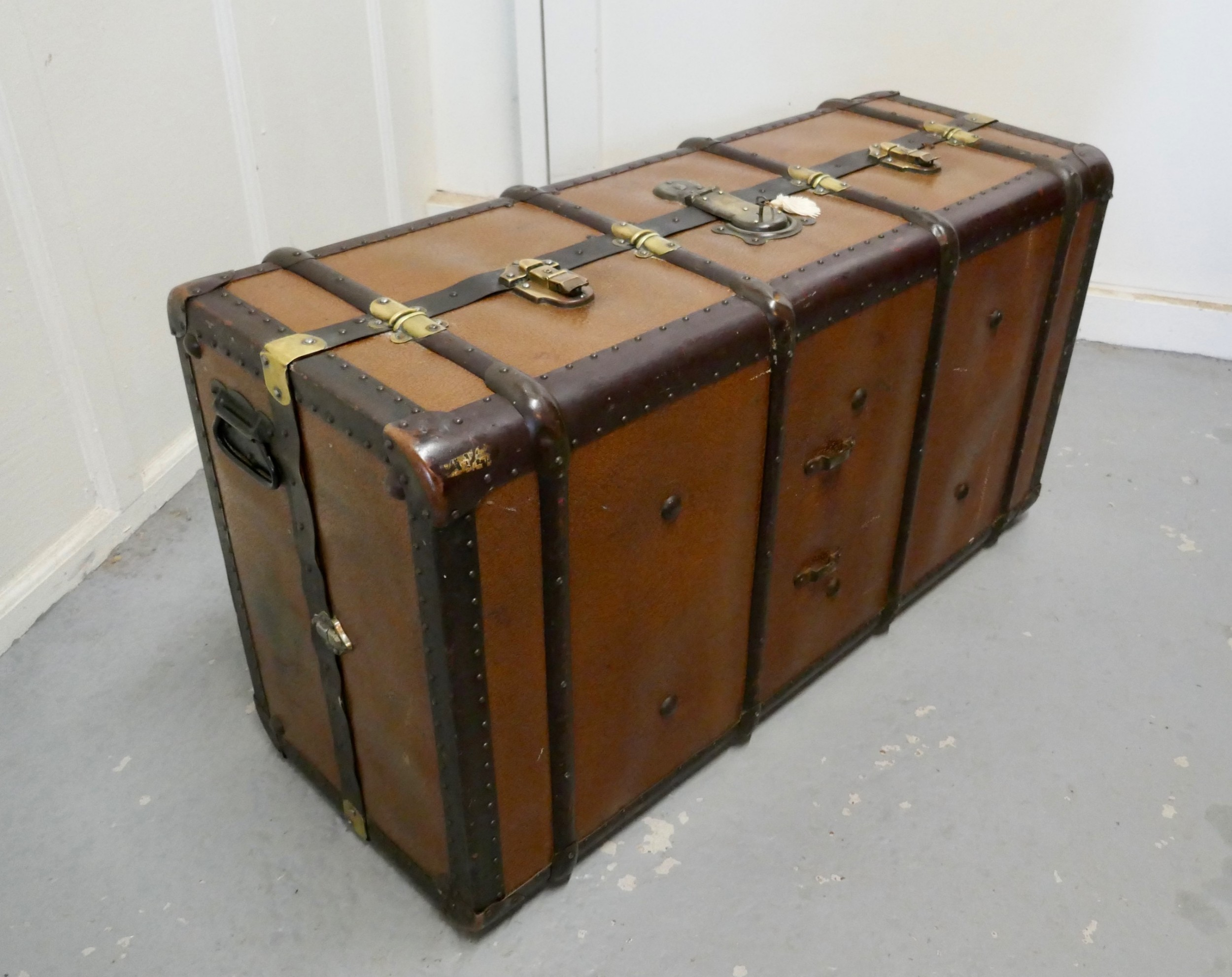 fitted steamer trunk or cabin wardrobe