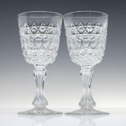 pair of 19th century richardson glass wine goblets c1880