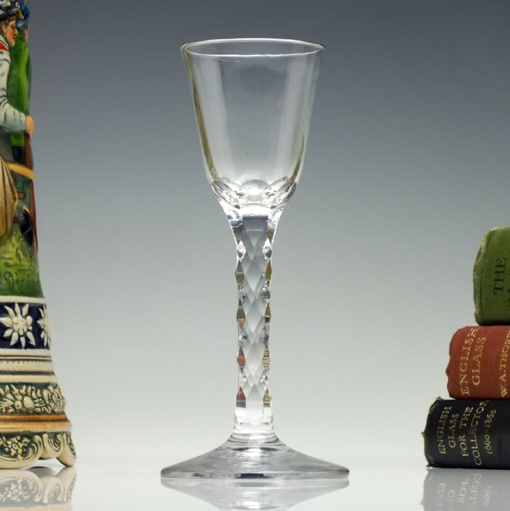 georgian facet cut dram glass c1780