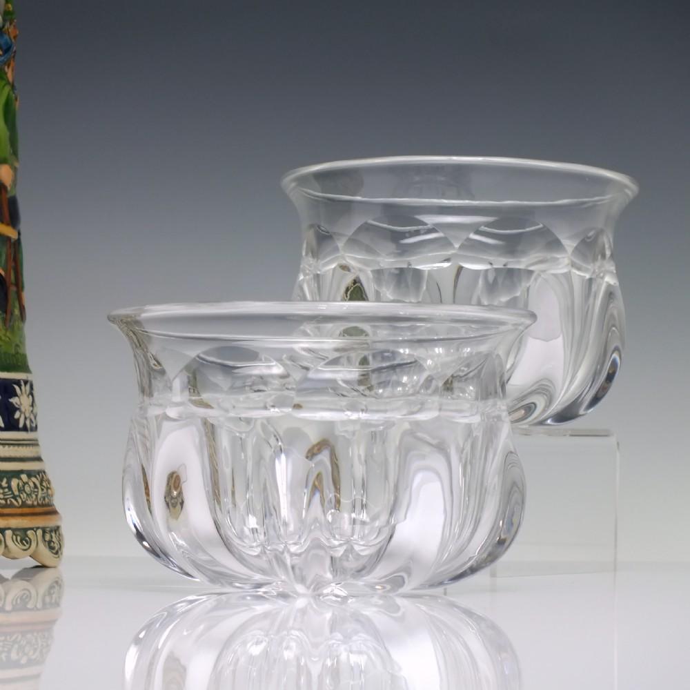 pair 19th century glass wine rinsers c1860
