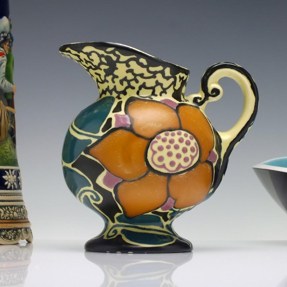 art nouveau pottery jug by ditmar urbach 'batna' design c1920
