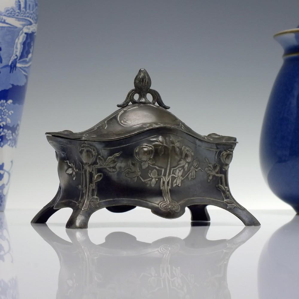 wmf art nouveau silver plated jewellery box c1910