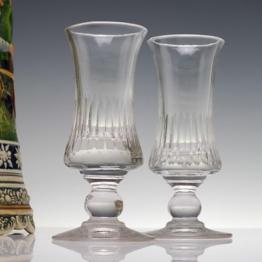 pair antique 19th century french absinth glasses c1850
