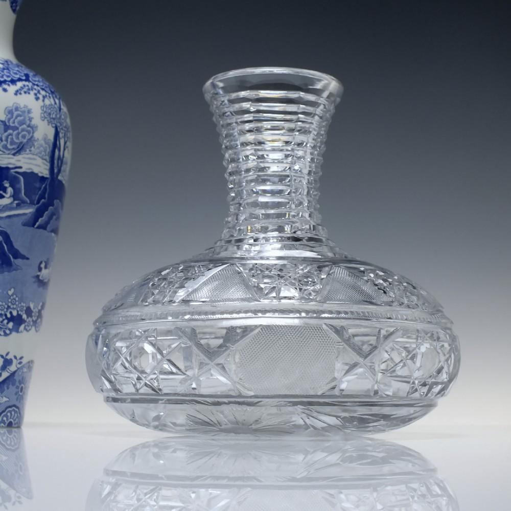 19th century baccarat glass wine carafe c1890