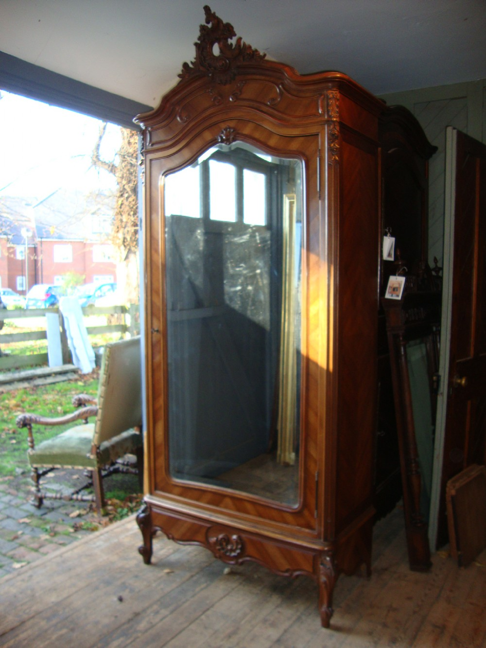 Beau French Louis Xv Style Armoire