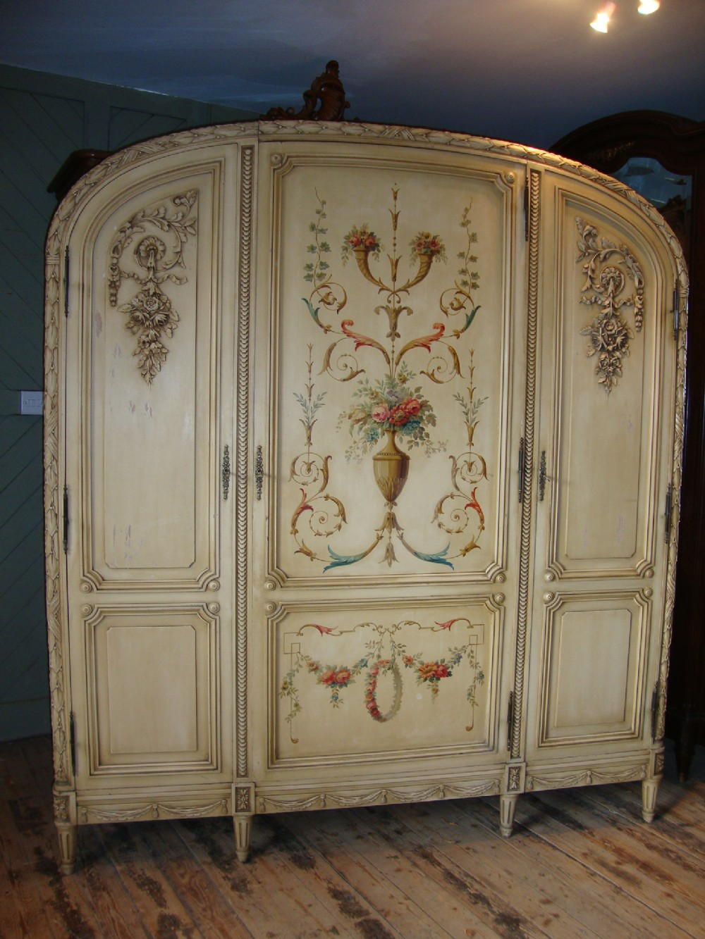 french painted armoire 251537. Black Bedroom Furniture Sets. Home Design Ideas