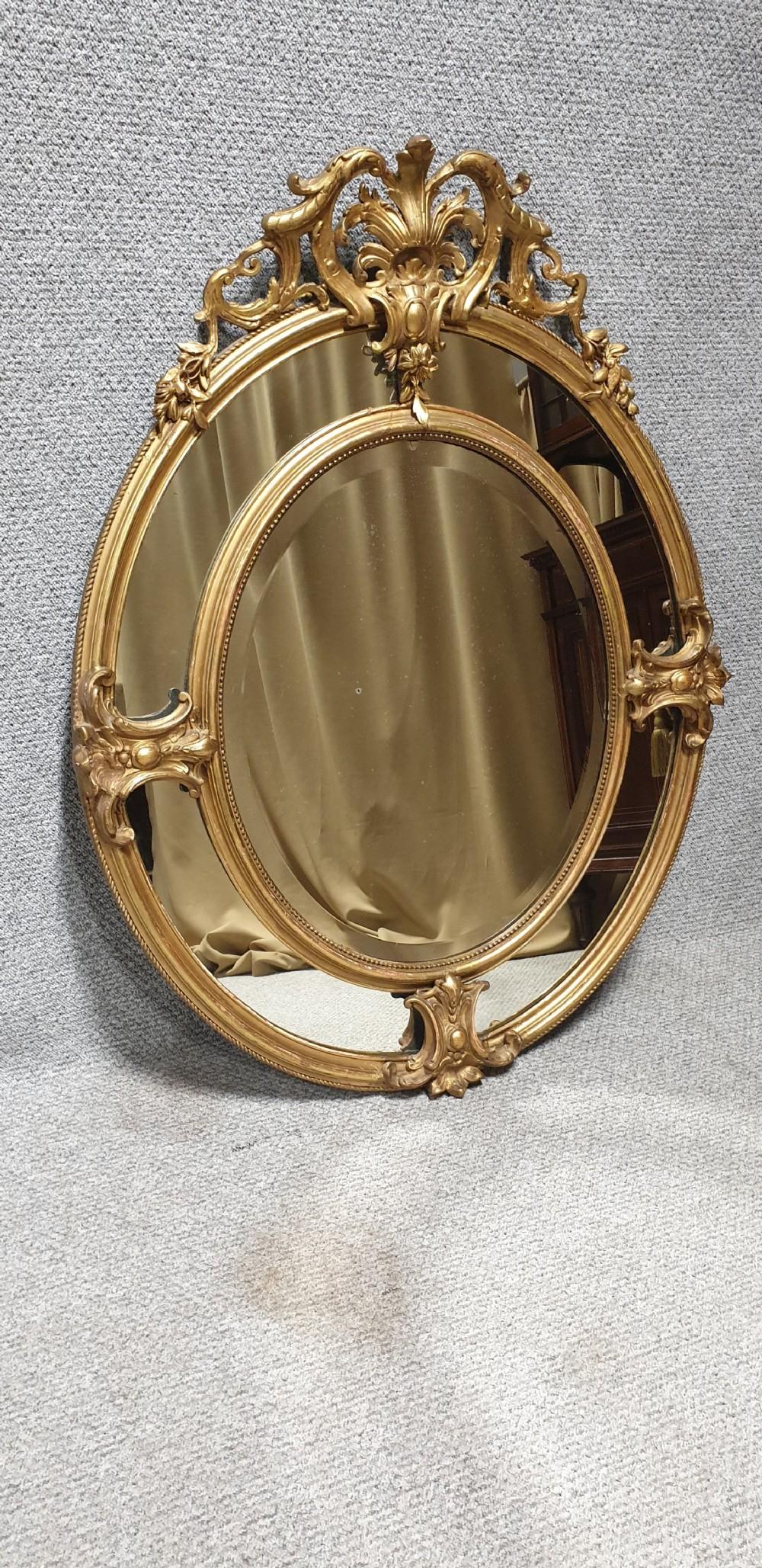large victorian marginal gilt mirror