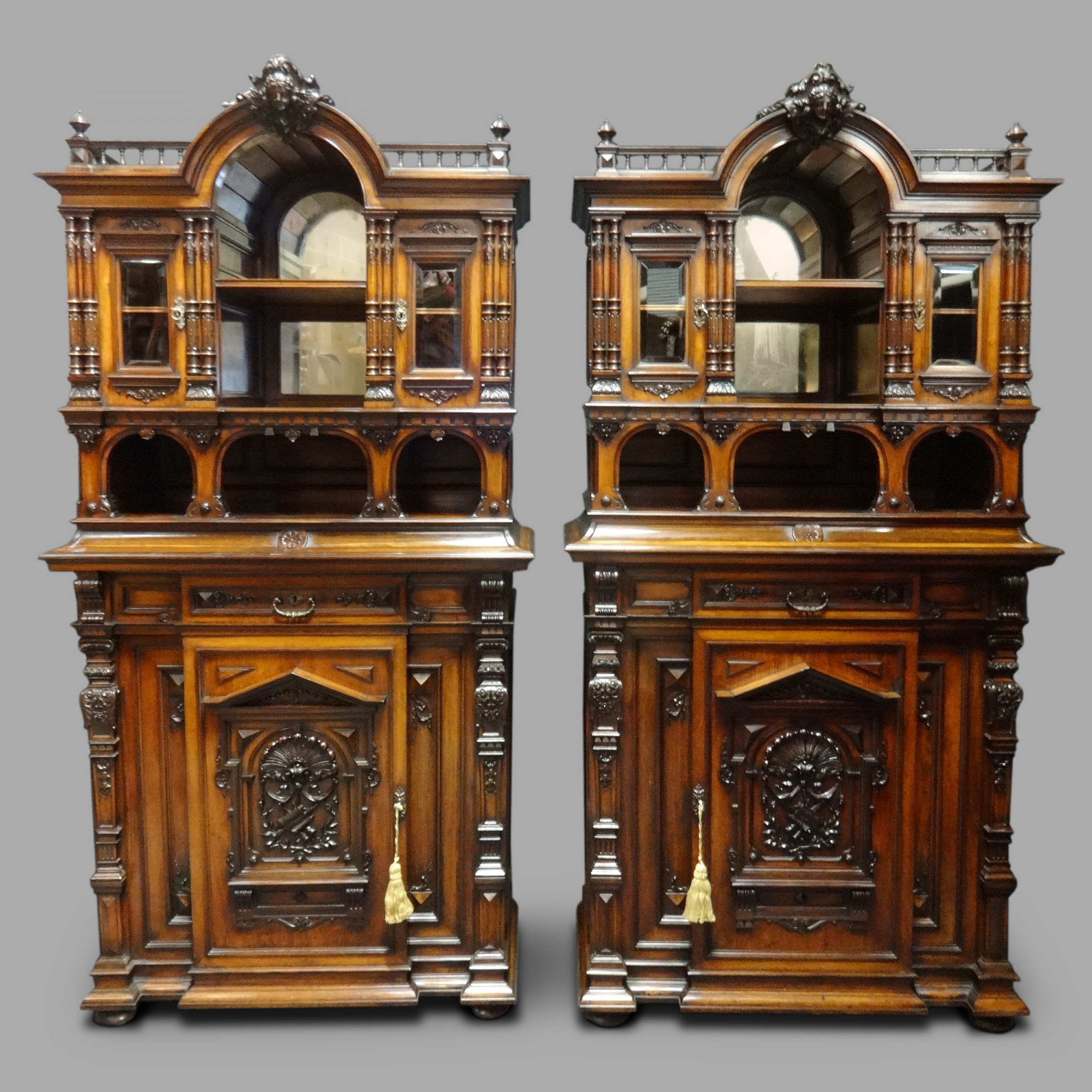 magnificent pair of rosewood cabinets by 'sigmund jaray wien'
