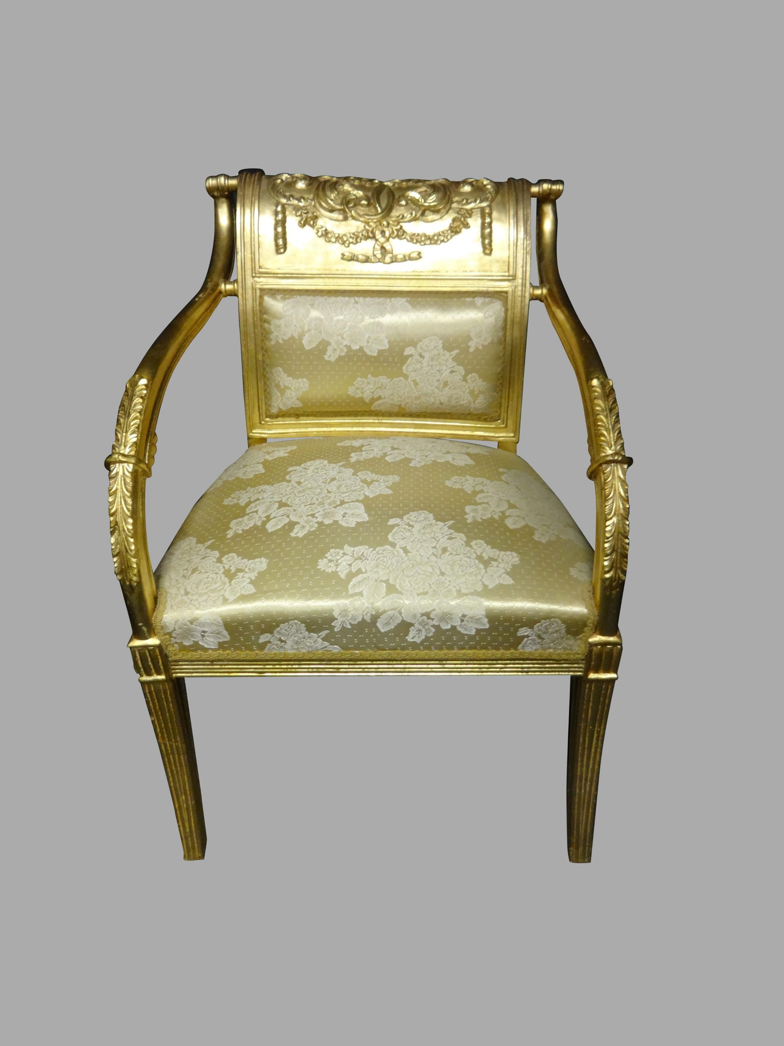lovely gilt framed chair