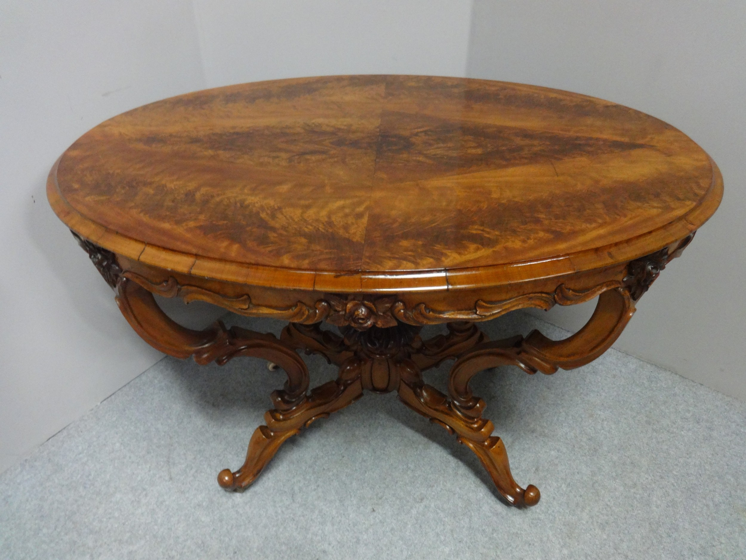 wonderful victorian mahogany center table