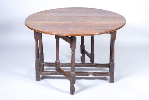 oak gate leg table mid 18th century