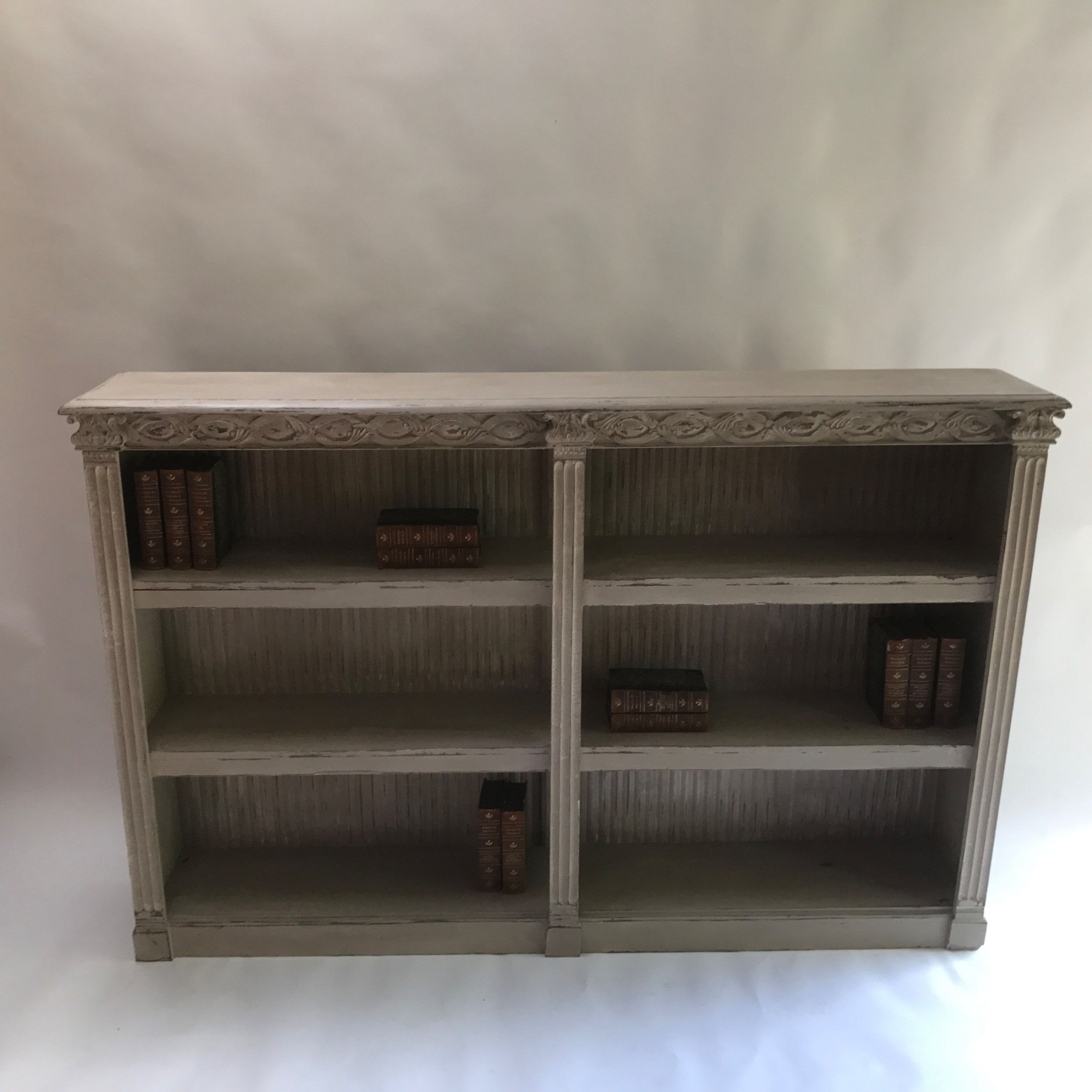 large french open bookcase