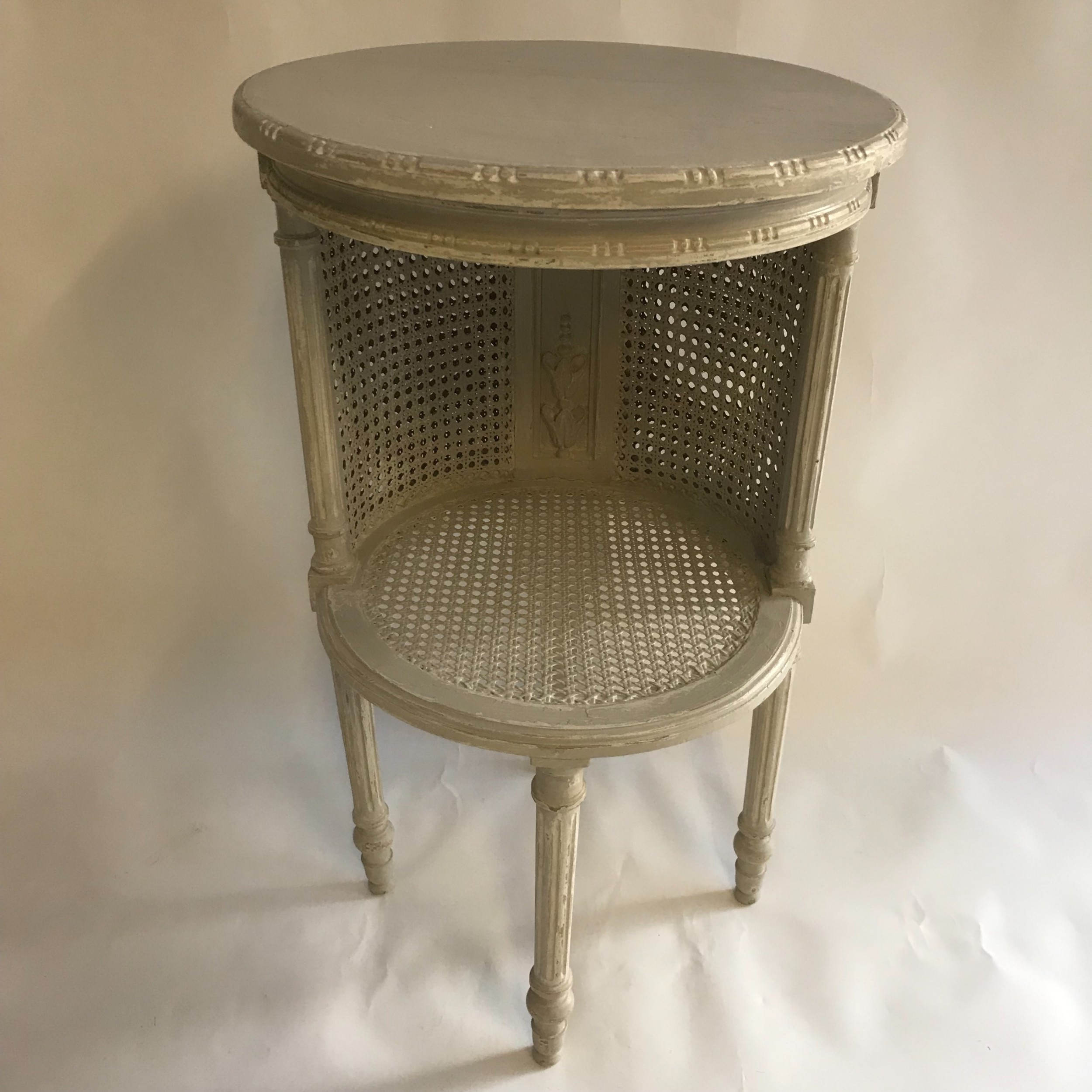 rare pretty french two tier table