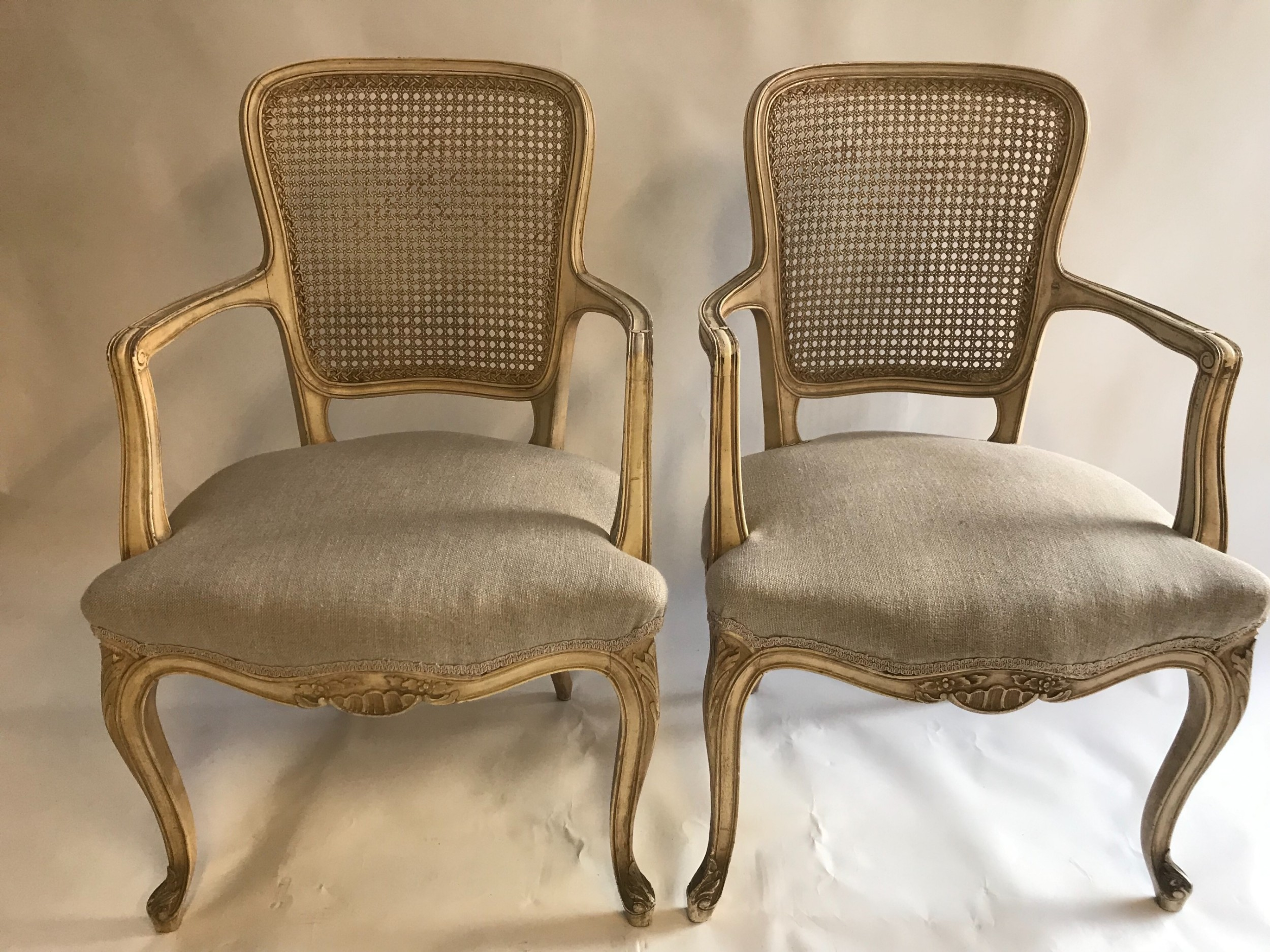 Pair Of French Open Armchairs | 616680 | Sellingantiques.co.uk