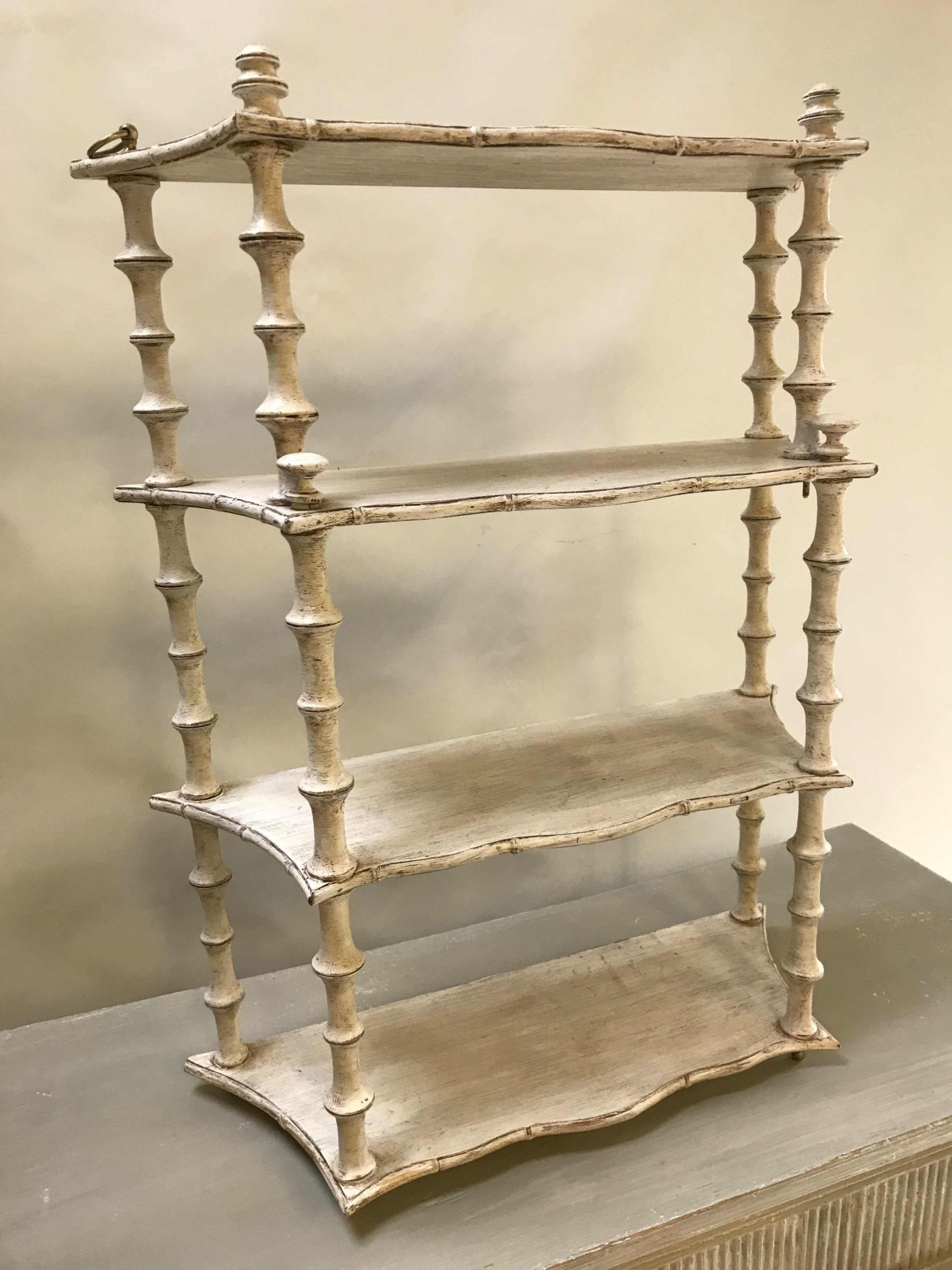painted french shelves