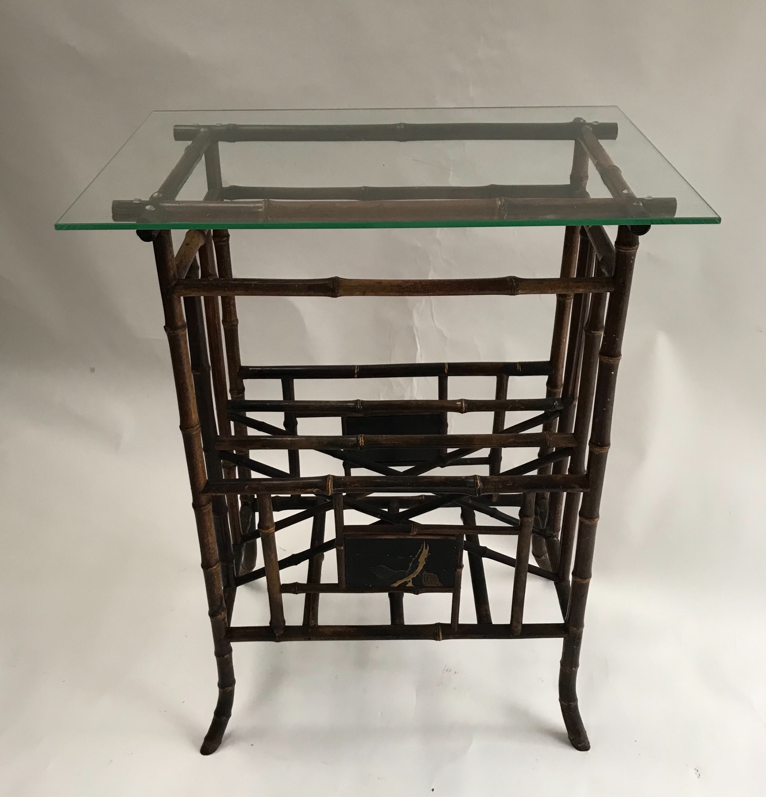 chinoiserie bamboo table