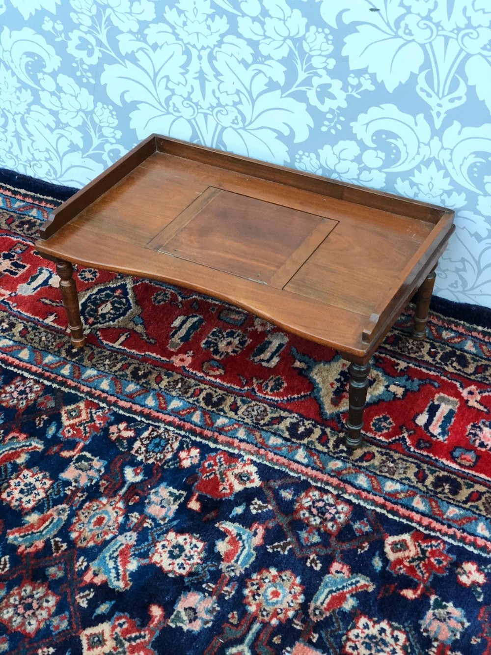 a late victorian solid mahogany bed writing tray super order original