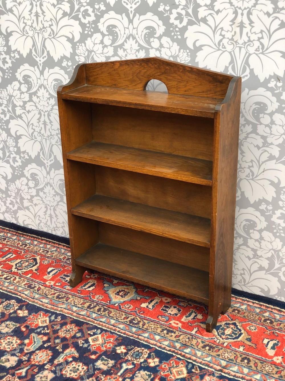 1920s Arts And Crafts Solid Oak Bookcase Original 668438