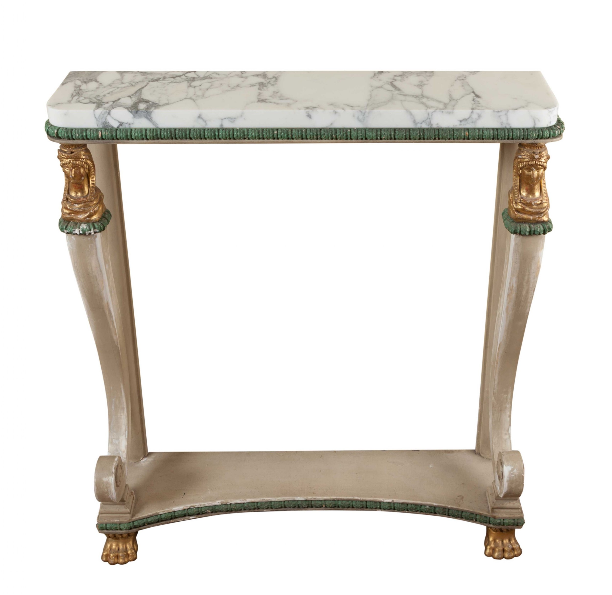 shabby chic painted empire console table circa 1815