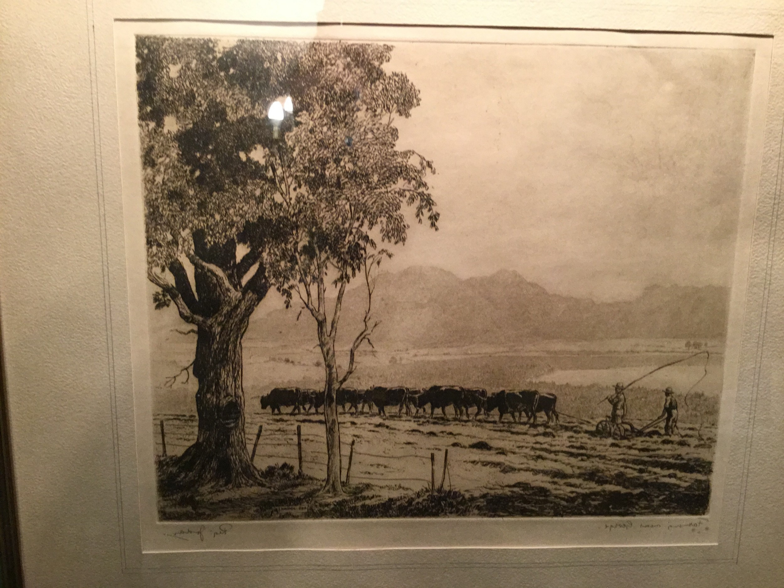 farming near george signed lithographic print by south african artist reg jordan