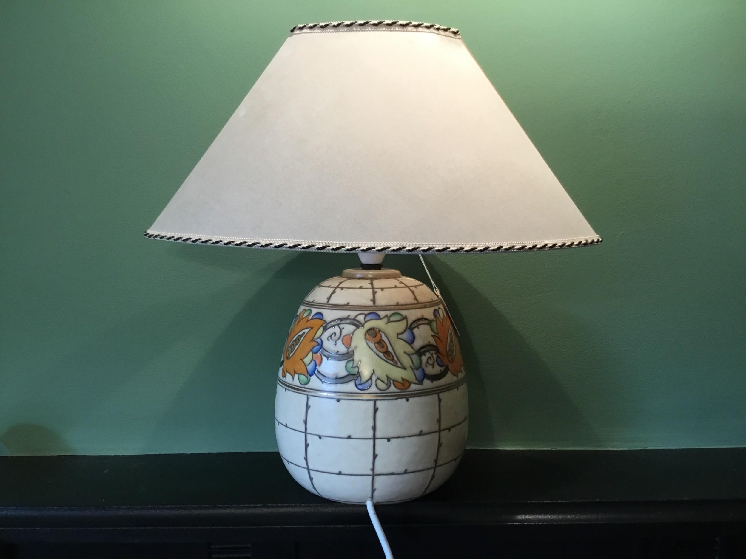 an art deco charlotte rhead tablelamp