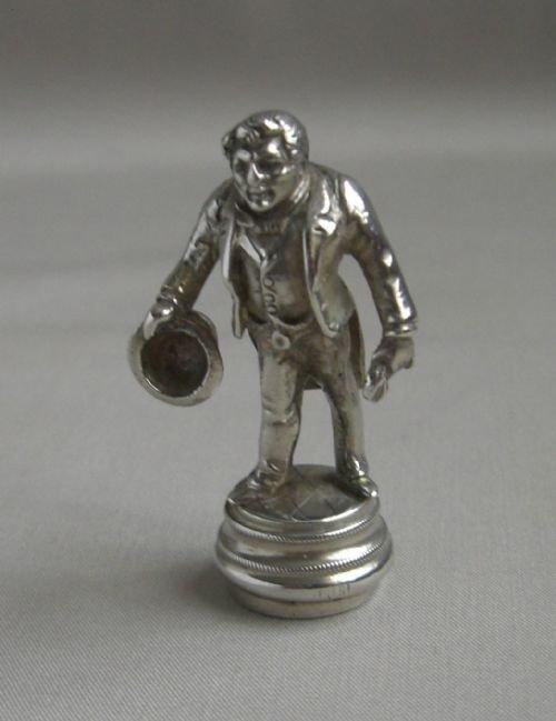antique silver il gobbo desk seal
