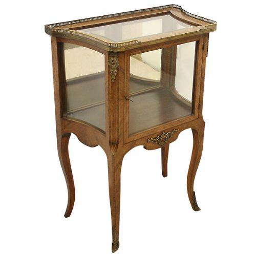 victorian rosewood vitrinedisplay caibinet