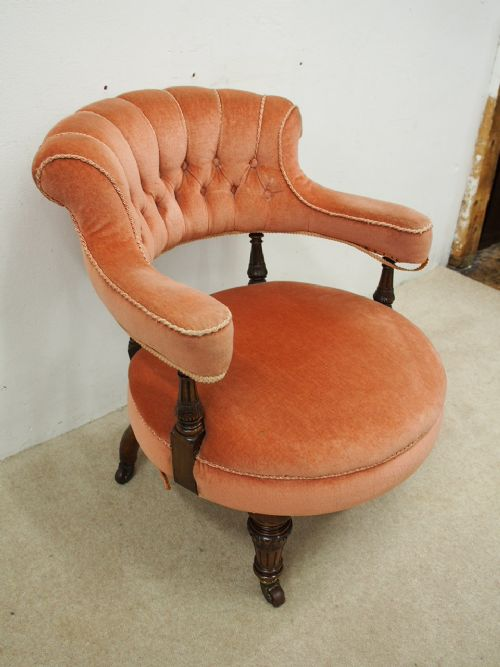 victorian pink deep button tub chair 488854 sellingantiques co uk