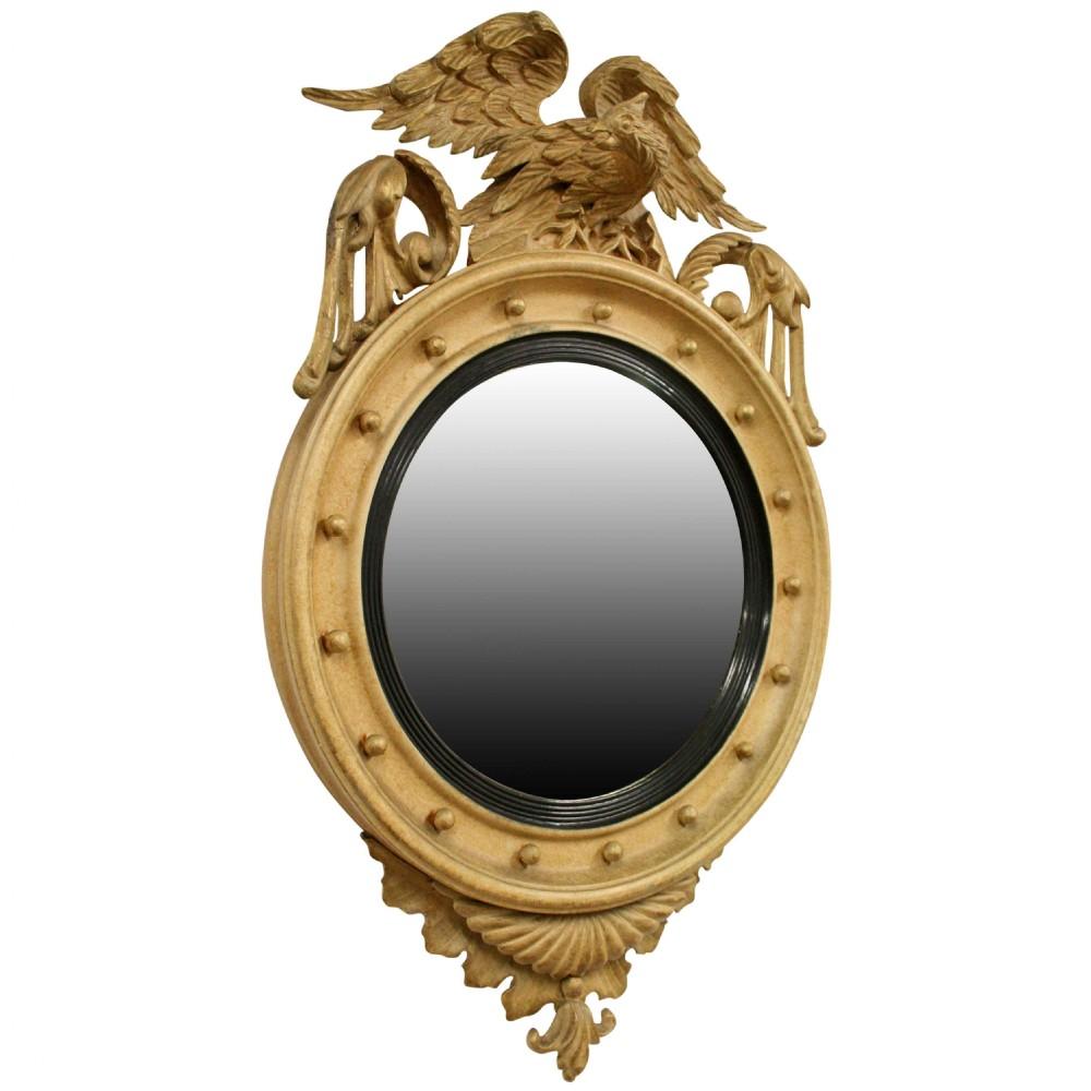 regency style gilt convex mirror
