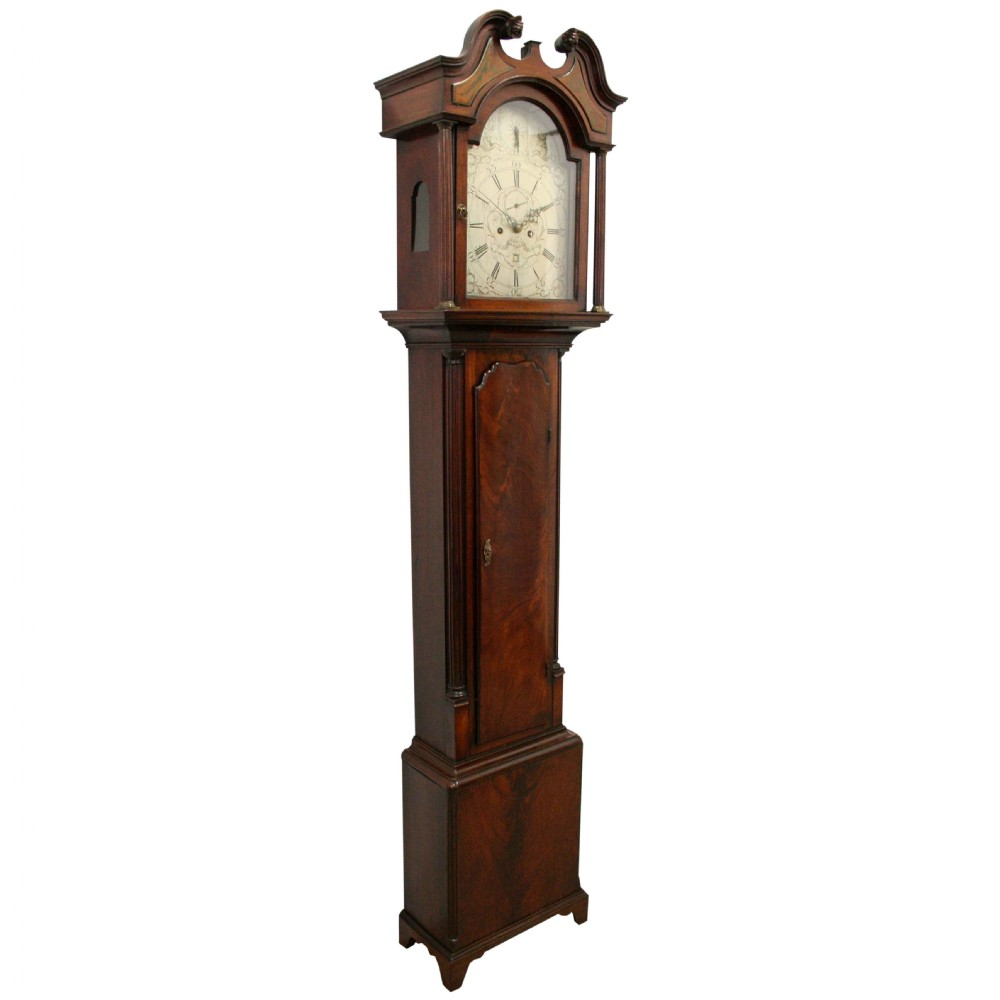 georgian longcase clock by john gibson of edinburgh