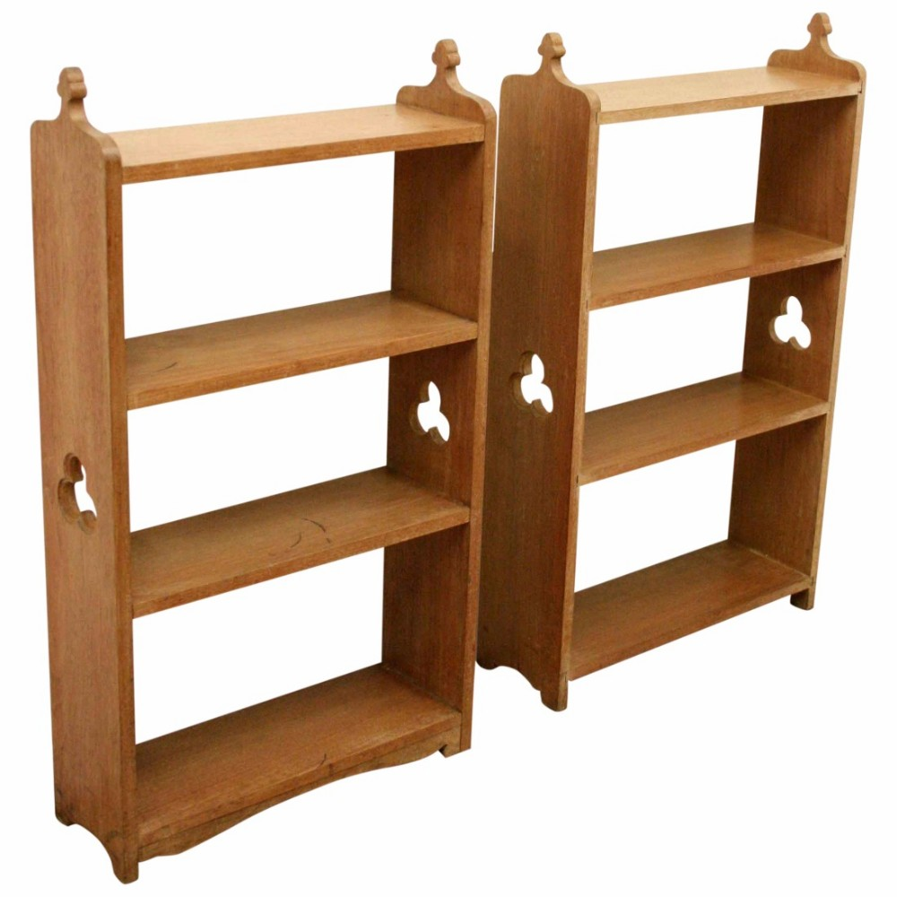 solid walnut floor standing or wall mounted open bookcases