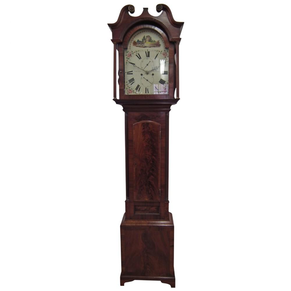 george iv scottish mahogany cased grandfather clock by j melrose edinburgh
