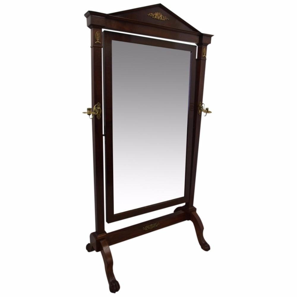 french mahogany cheval mirror