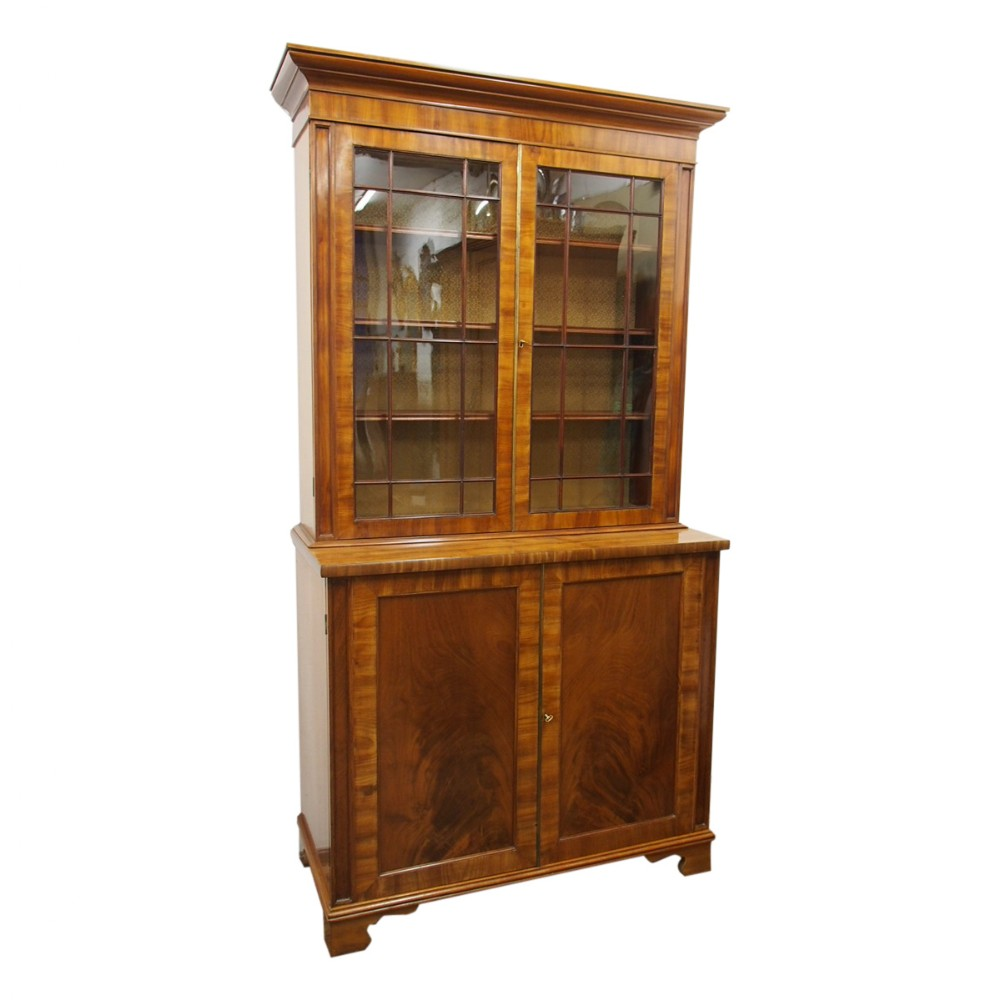 george iv mahogany glazed cabinet bookcase