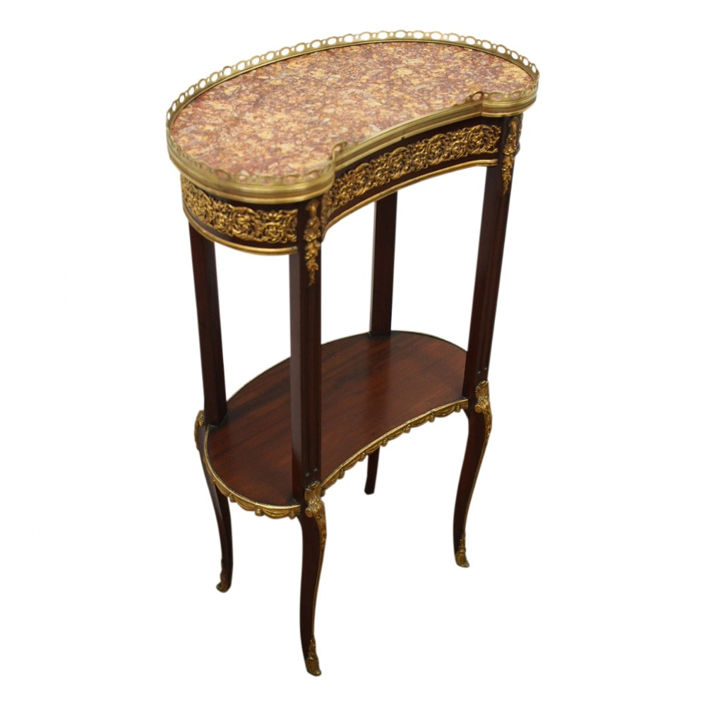 louis iv style kidney shaped occasional table