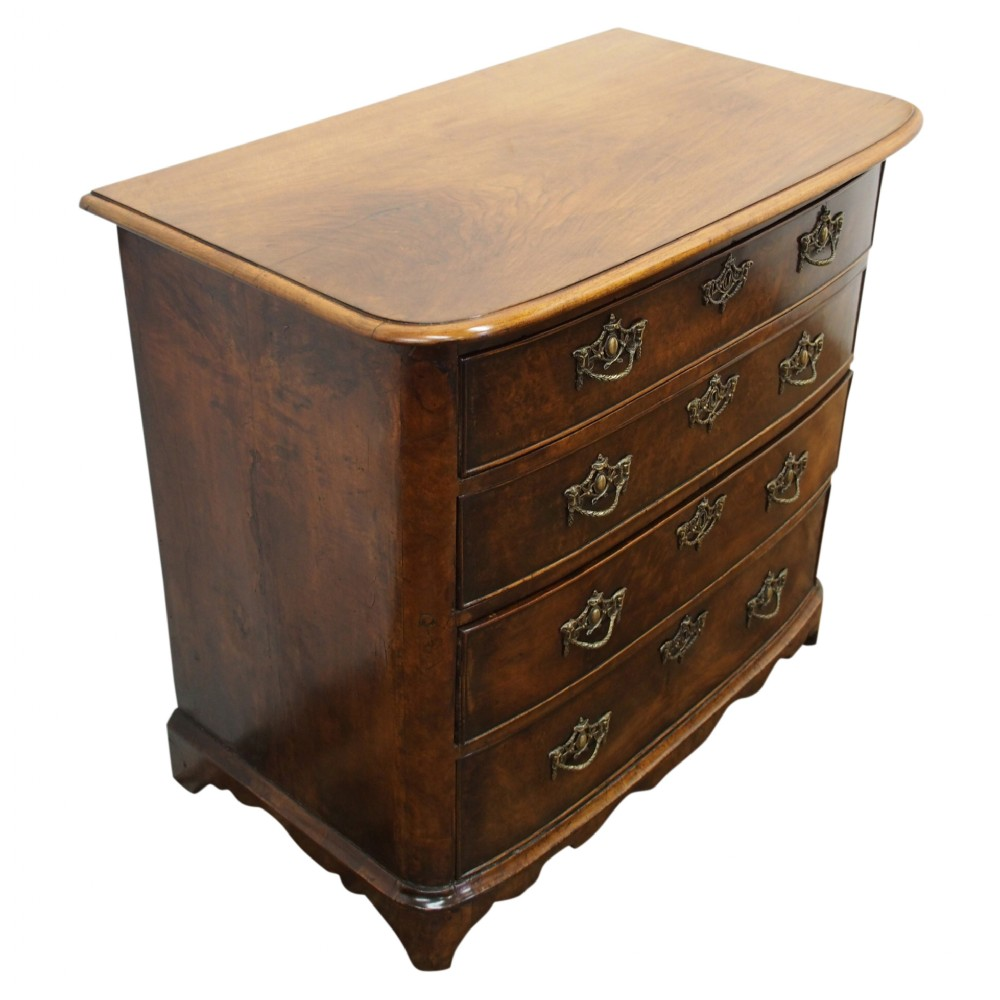 neat dutch walnut chest of drawers