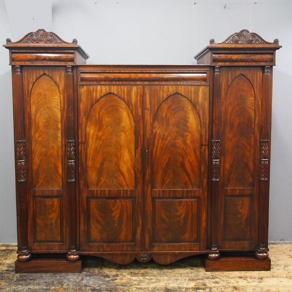 william iv scottish mahogany 4 door wardrobe