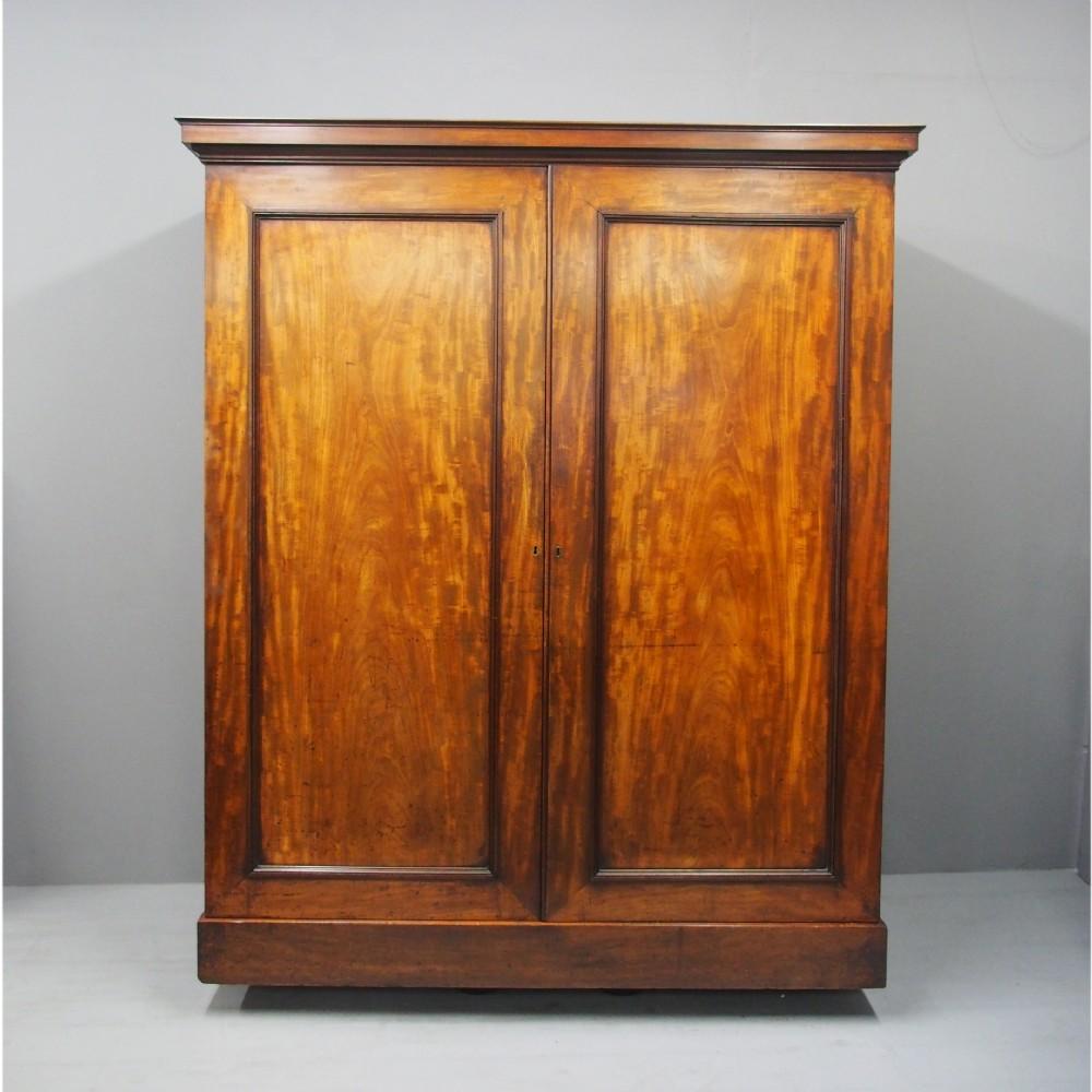 william iv mahogany 2 door wardrobe