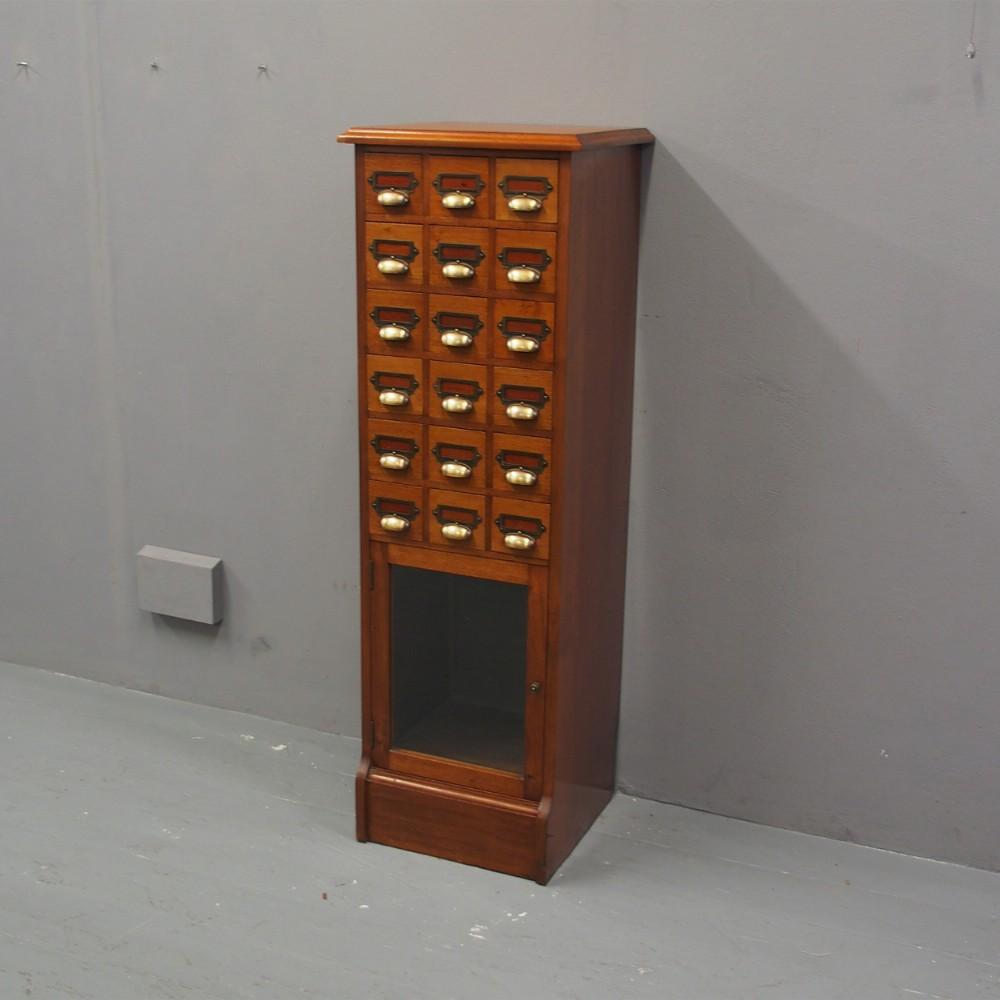 mahogany index and folio cabinet