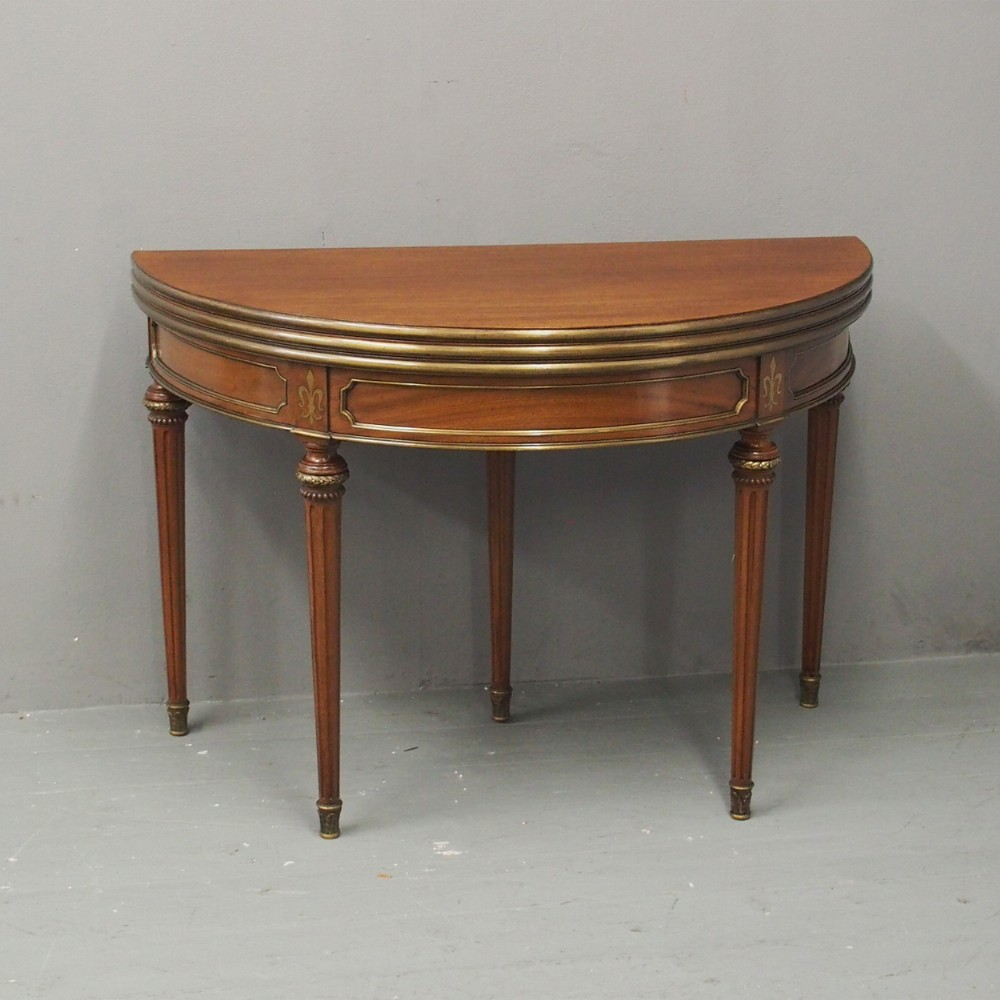 french regency style double top tea table card table