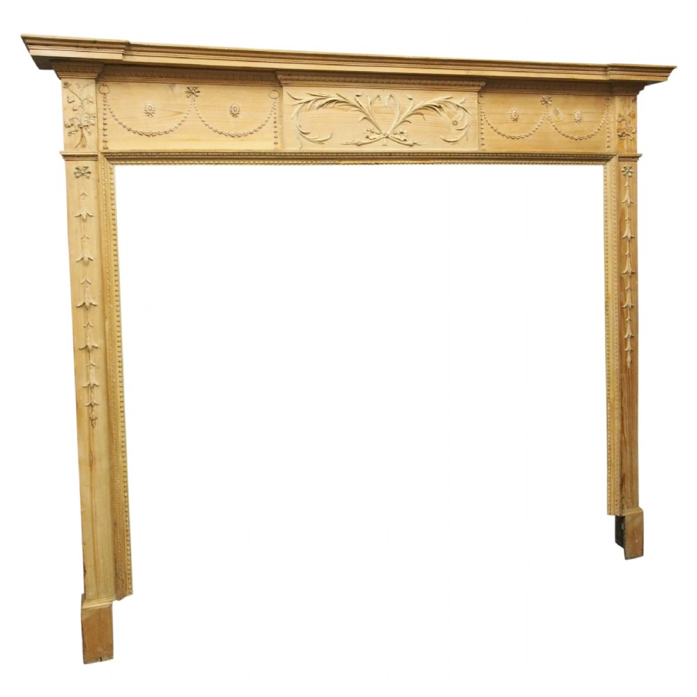george iii pine carved mantelpiece