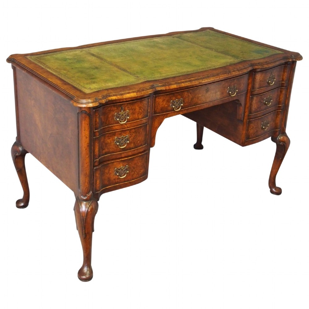 george ii style walnut writing desk